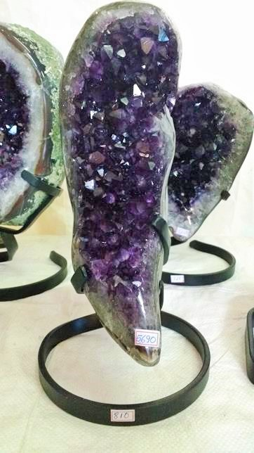 Stones from Uruguay - Uruguayan Amethyst Piece with Metal Base (quality a)