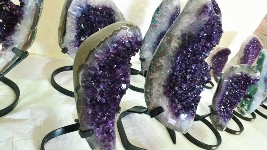 Stones from Uruguay - Special Amethyst Druzy with Metal Base