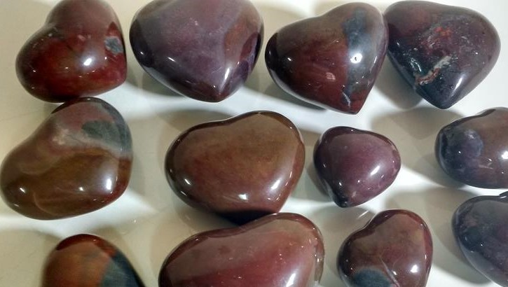 Stones from Uruguay - Red Jasper Heart for Decoration