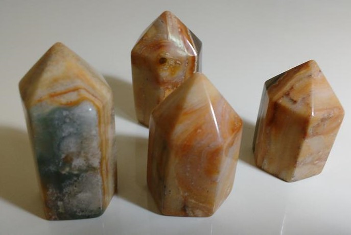Stones from Uruguay - Pampa Cream Jasper Point for Decoration