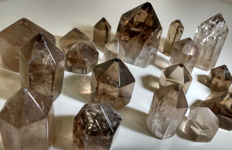 Stones from Uruguay - Smoky Quartz Point for Decoration