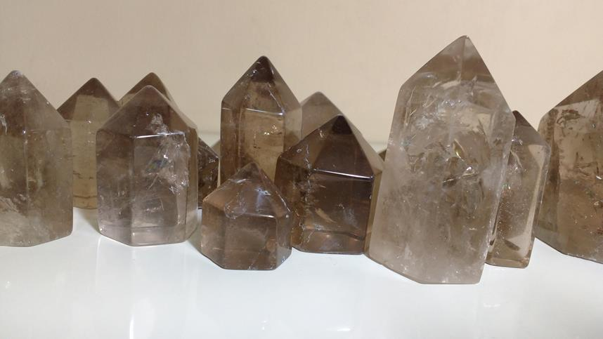 Stones from Uruguay - Smoky Quartz Point for Decor and Home