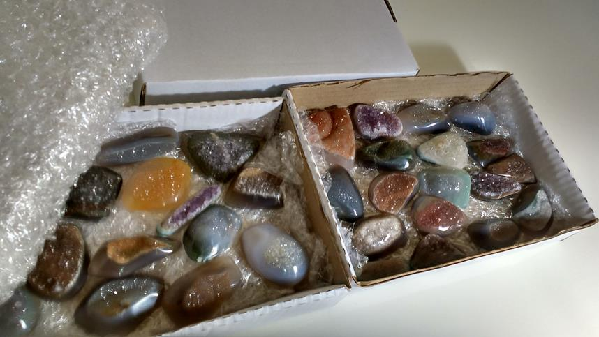 Stones from Uruguay - Natuarl Druzy Cabochon Free From Boxes for Home & Decor