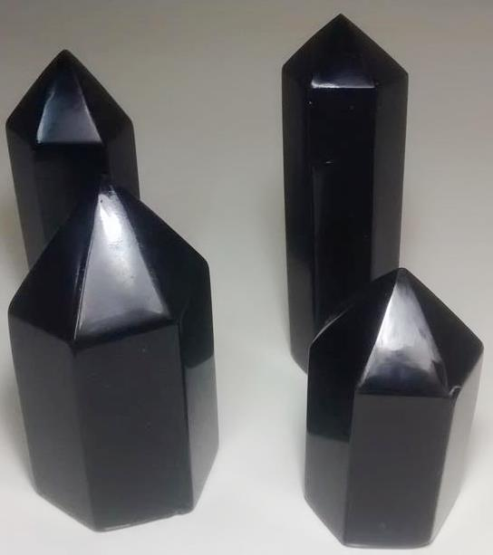 Stones from Uruguay - Black Obsidian Point for Gift and Decoration
