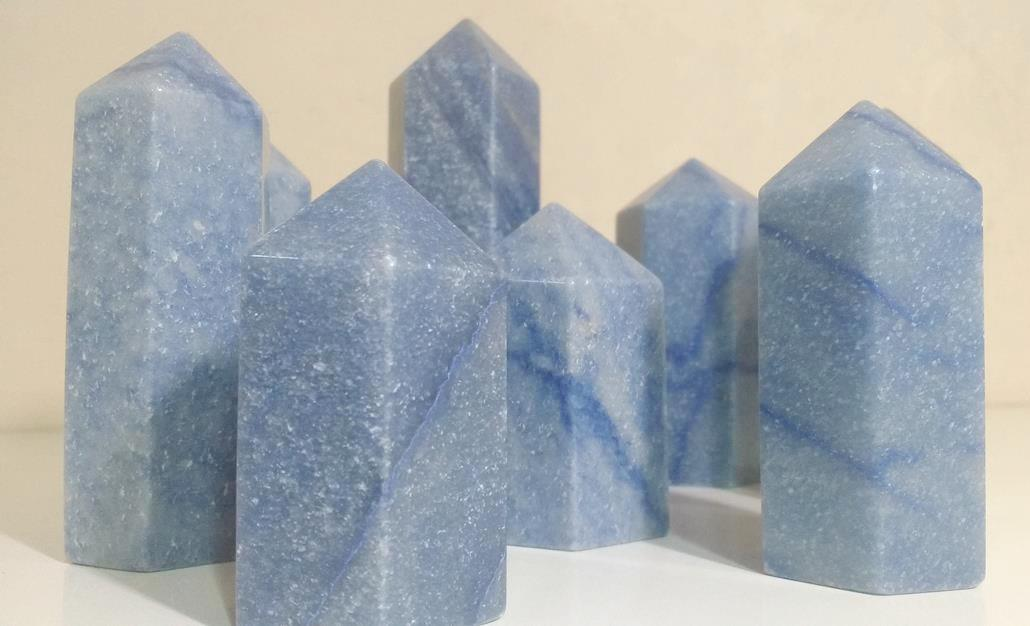 Stones from Uruguay - Blue Quartz Points for Home & Decor
