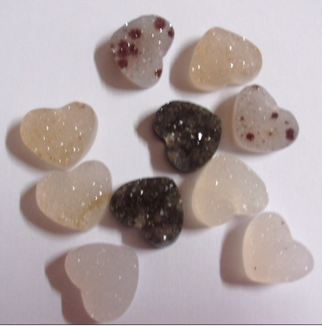 Stones from Uruguay -  Druse Heart