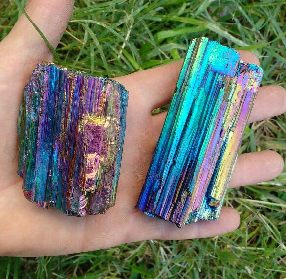 Stones from Uruguay - Rainbow Aura Black Tourmaline Used to Align and Purify all Chakras