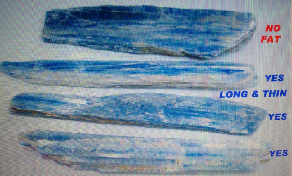 Stones from Uruguay - Blue Kyanite for Decoration and Home