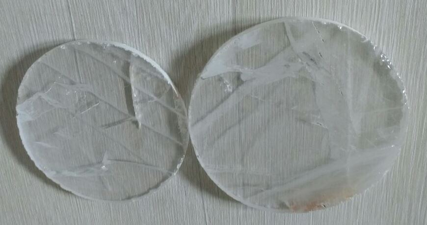 Stones from Uruguay - Clear Quartz  Crystal Coaster, #2 and #3