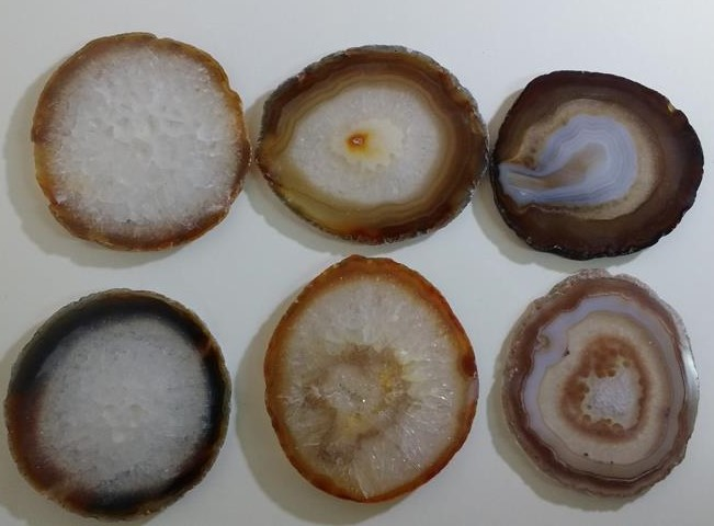 Stones from Uruguay - Natural Agate Slice Coasters, #4