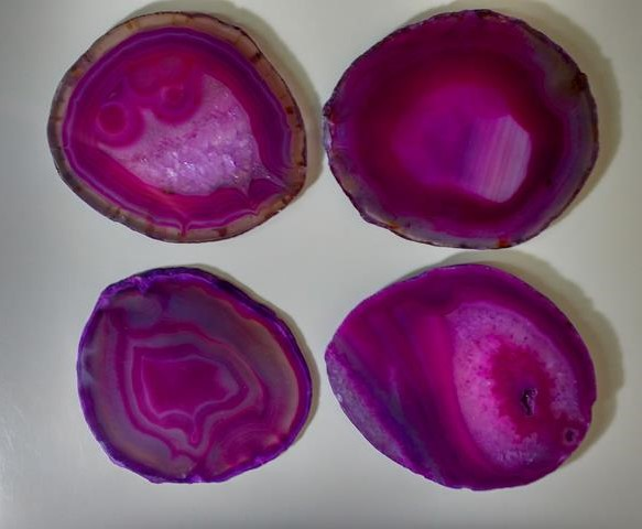 Stones from Uruguay - Pink Agate Slab Coasters,#4