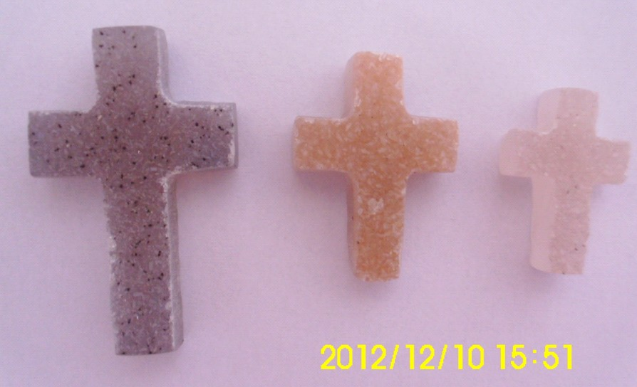 Stones from Uruguay - Druzy Crucifix for Jewelry