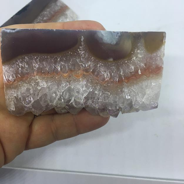 Stones from Uruguay - Extra Large Amethyst Druzy Rectangle Slice for  Home Decor